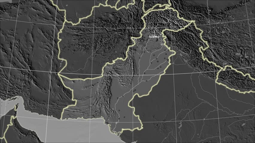 Red apple flow with slow motion over black alpha channel is the pakistan area map in the azimuthal equidistant projection layers of main cities capital gumiabroncs Images