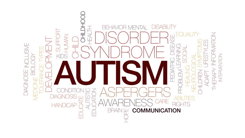 Autism animated word cloud, text design animation. Kinetic typography. | Shutterstock HD Video #30728059