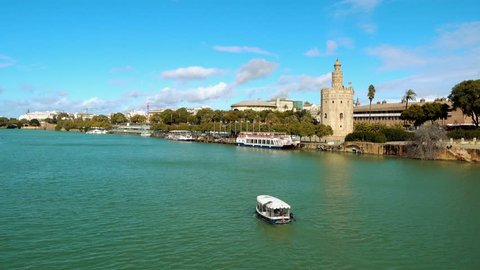 Torre del Oro (Tower of Gold) is dodecagonal military watchtower in Seville, Andalusia, Spain. It was erected by Almohad Caliphate in order to control access to Seville via Guadalquivir river.