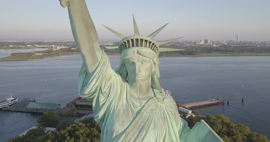 Statue of liberty front fly away | Shutterstock HD Video #30760069
