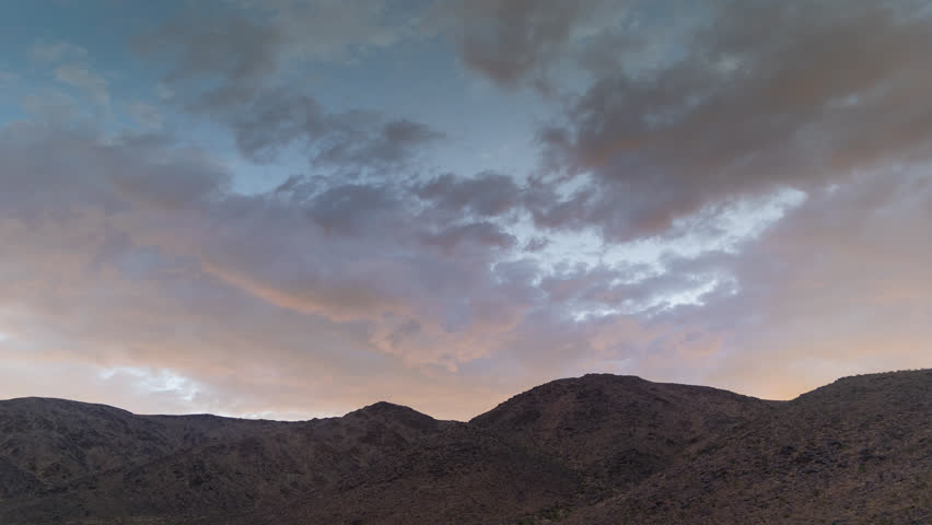 Thunderstorm Mojave Desert with Distant mountains 4K from 6K source | Shutterstock HD Video #30764293