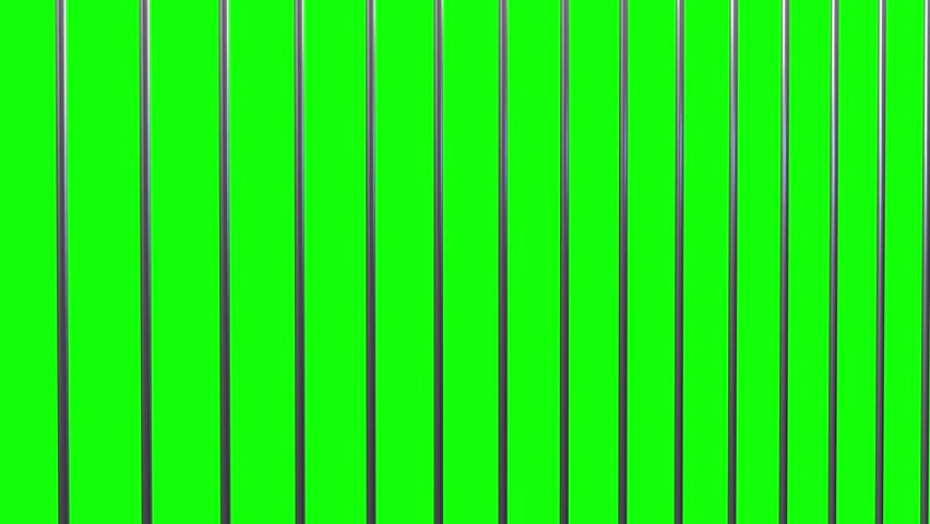 Prison Bars On A Green Background Stock Footage Video