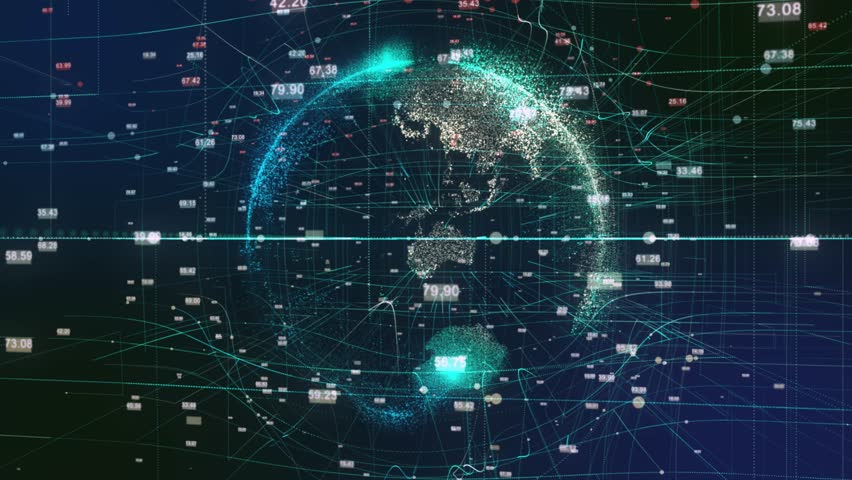 A stylized rendering of the earth conveying the modern digital age and its emphasis on global connectivity among people | Shutterstock HD Video #30822979