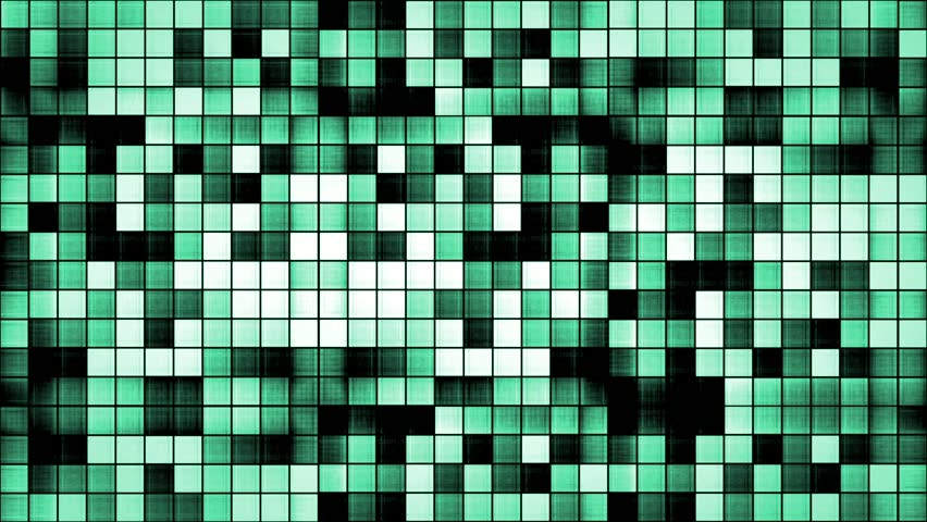 Cyan Textured Mosaic Background Loop