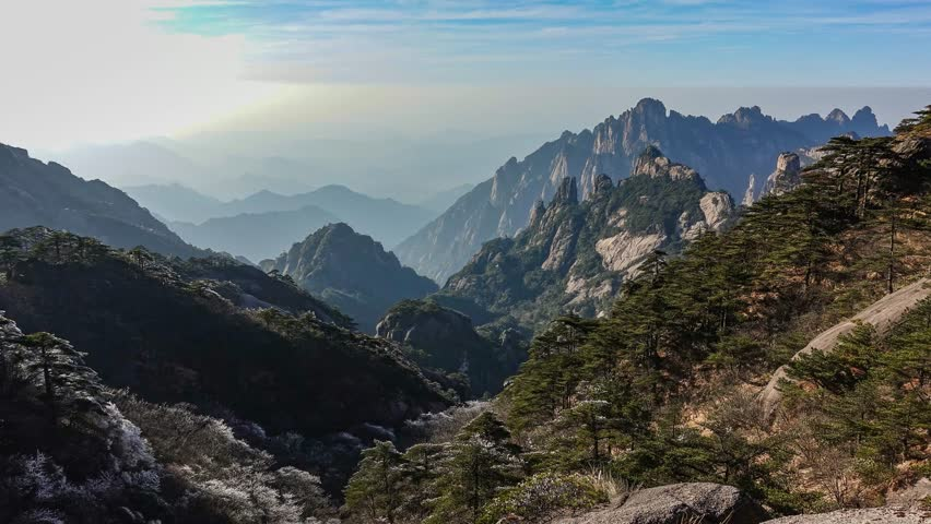 Mountain Huangshan scenery. Taken on the Mountain Huangshan, Anhui, China.  #30859009