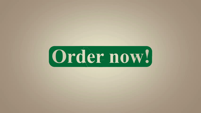 Order now advertising text banner intro outro