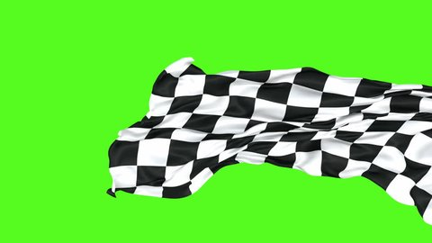 Racing flag loop-able 3D animation with alpha mask