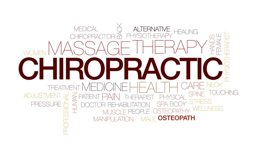 Chiropractic animated word cloud, text design animation. Kinetic typography. | Shutterstock HD Video #30991849