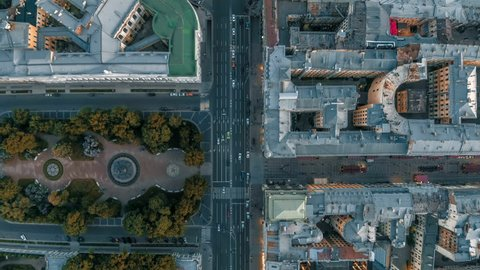 Nevsky Prospect is main city of St.Petersburg is old, quite narrow and always has heavy traffic