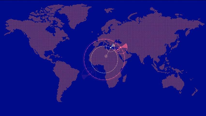 Weather Radar Digital Satellite Map Midwest Southeast US Stock - Global weather radar