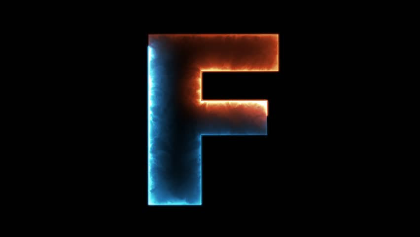 Alphabet Letter F Outline Stockowy Material Wideo 100 Beztantiemowy 31104709 Shutterstock