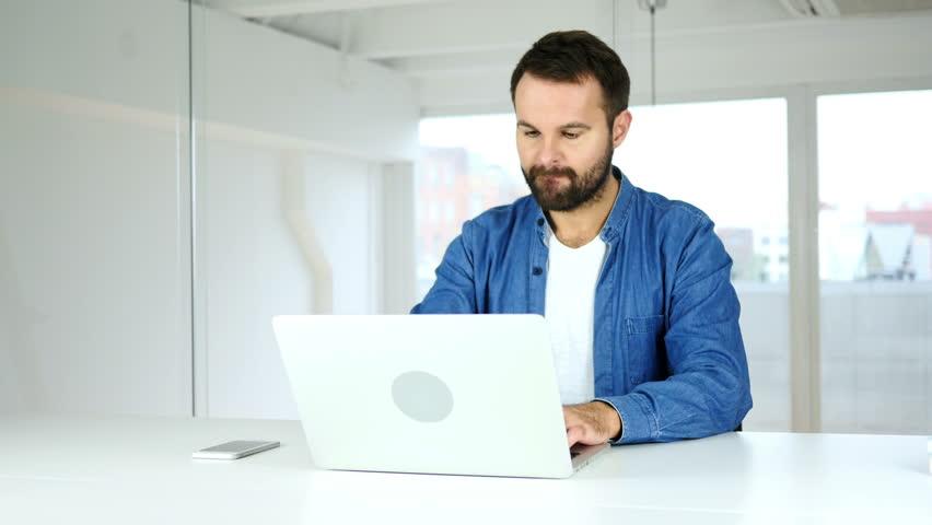 Beard Man Leaving Office after Working hours | Shutterstock HD Video #31125709