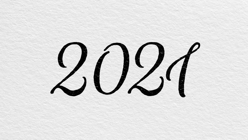 New Year 2021 Animation. 2021 Stock Footage Video (100% ...