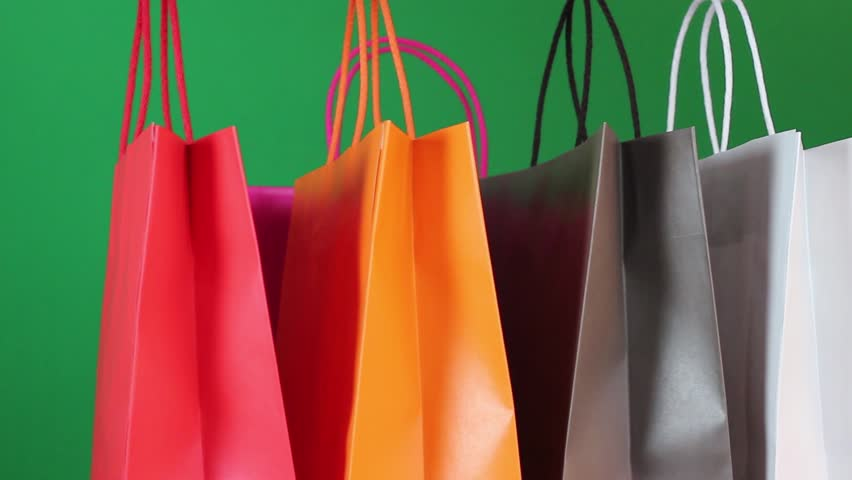 People with shopping bags | Shutterstock HD Video #3114379