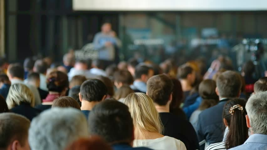 Audience listens to the lecturer at the conference hall | Shutterstock HD Video #31155859