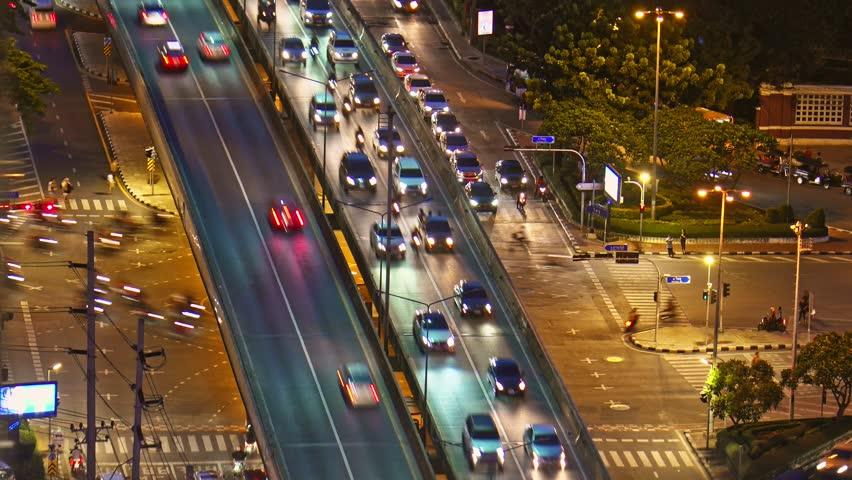 Time-lapse traffic in bangkok | Shutterstock HD Video #31170319