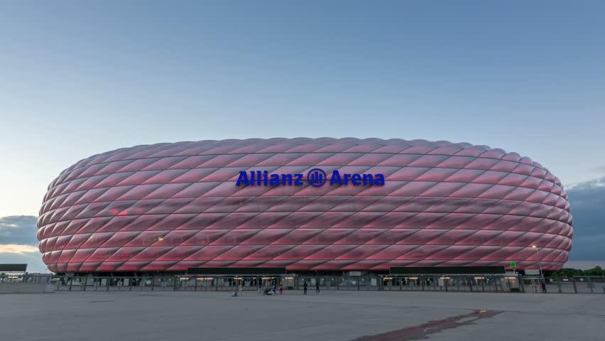MUNICH, GERMANY - CIRCA 2017: The Allianz Arena, A Modern Football ...