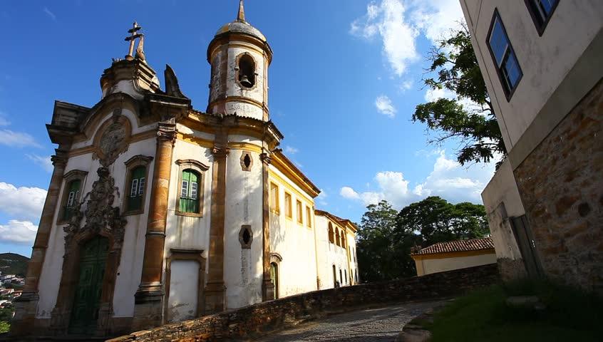 view of the Igreja de Sao Francisco de Assis of the unesco world heritage city