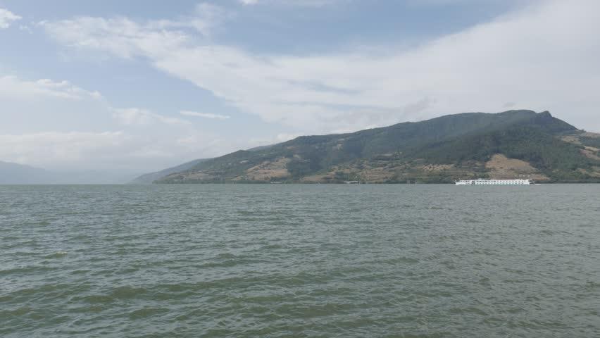 Water Transport Line Through Danube Gorge K P Fps UltraHD - Big river