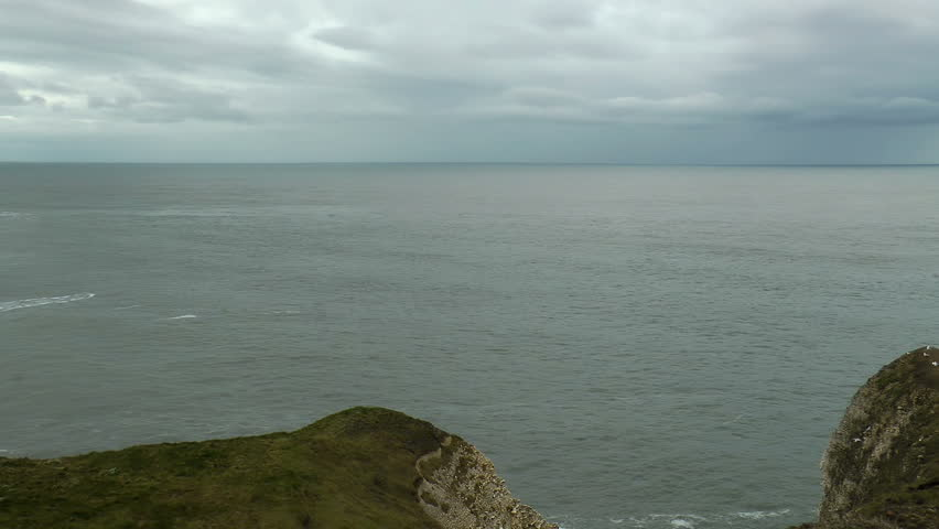 Bleak Ocean Looking out towards the North Sea from the cliffs of Flamborough, Yorkshire. #3123295