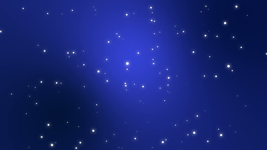 Starry Night Sky Animation Made Of Sparkly Light Star Particles Moving Across A Dark Blue Background