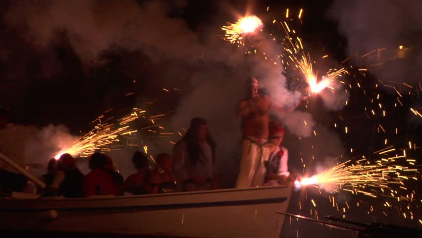 IMPERIA, ITALY: pirate landing representation during