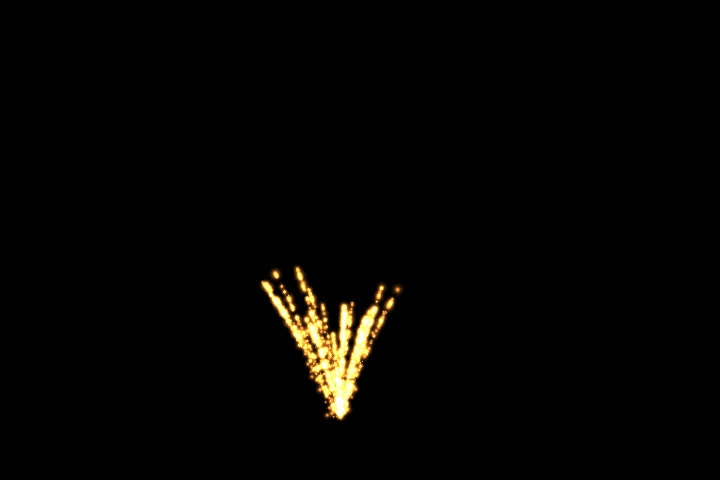 Alpha Channel Animated Fireworks Series