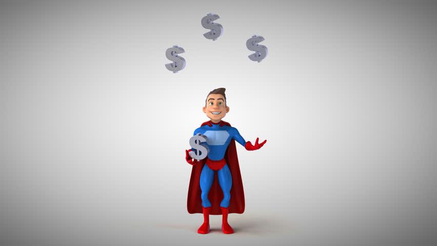 Fun superhero - 3D Animation   Shutterstock HD Video #31370149