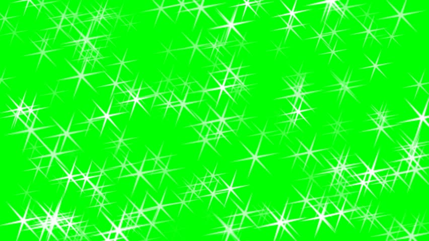 Stars sparkles on green screen background animation. Christmas stars. #31511899