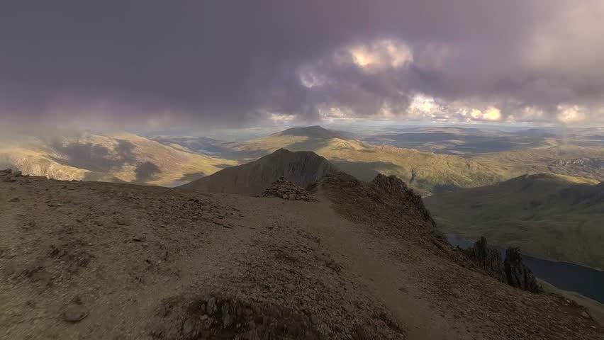 Crib Goch ridge, Snowdonia, Wales, UK.