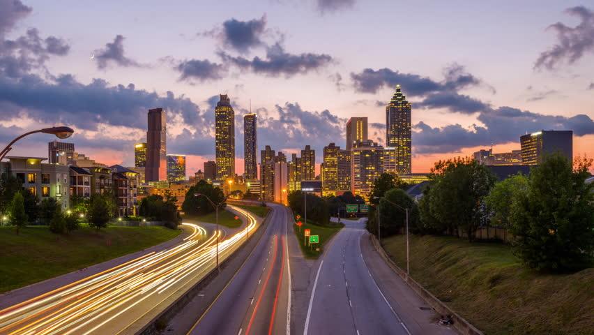 Atlanta, Georgia downtown skyline.