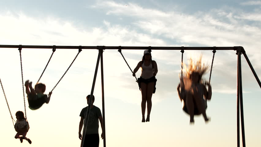 Swinging people
