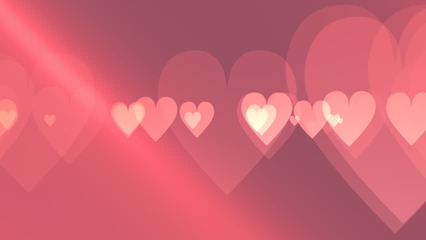 Valentine\'s Day. White Hearts Flying On Red Color Background ...