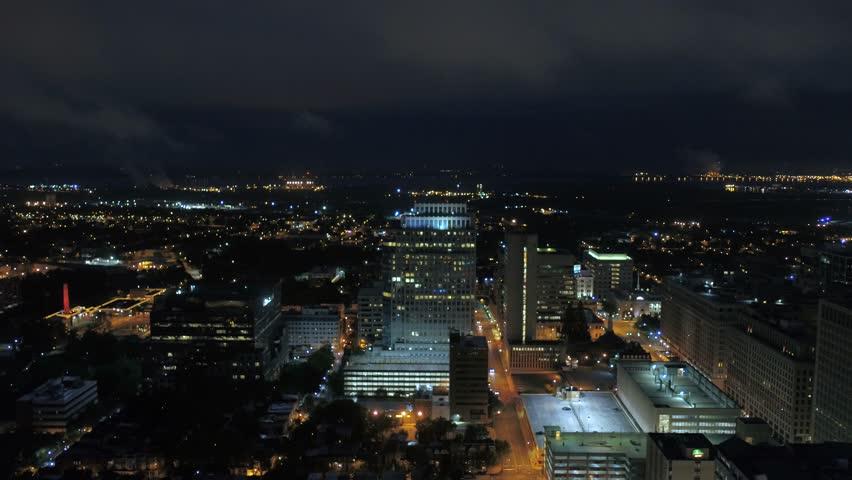 Aerial Delaware Wilmington July 2017 Night 4K Inspire 2 | Shutterstock HD Video #31632289