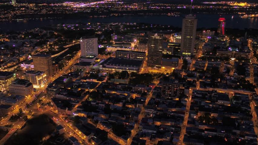Aerial Canada Quebec City July 2017 Night 4K Inspire 2 | Shutterstock HD Video #31634119