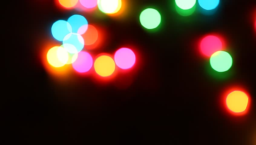 Background Abstract bokeh glitter colorful of light Moving look at the festive decorations Merry Christmas and New Year in holidays night city street  . | Shutterstock HD Video #31667449