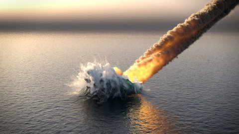meteorite fall into the ocean