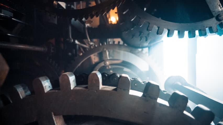 chapel, mechanism, watchmaker, black oil, smoke, st. petersburg, dark room, spiral staircase, clock hands, Butenope Brothers