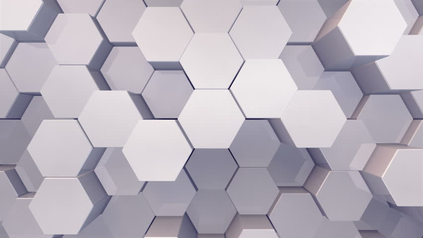Geometric Hexagon Block Wall moving background.   Shutterstock HD Video #31787509