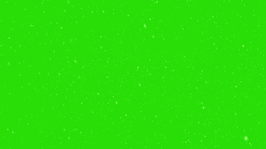 Falling snow green screen