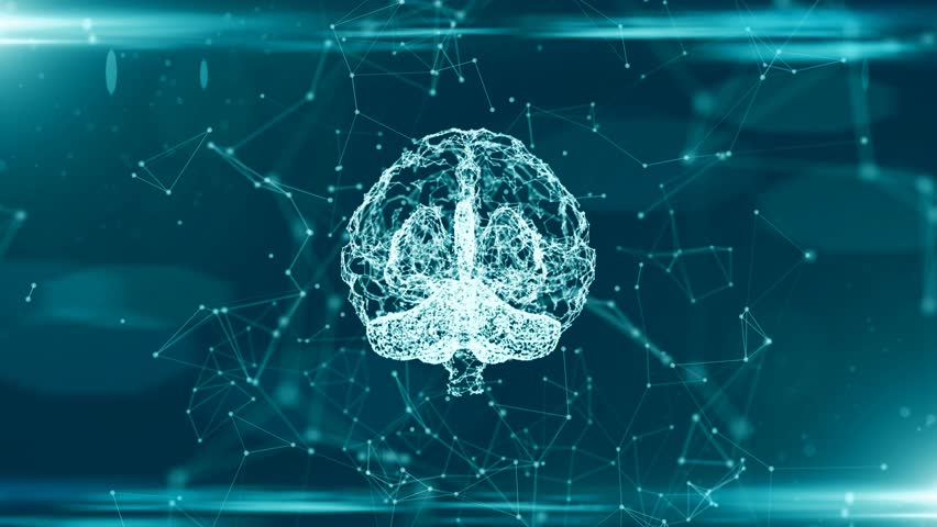 Brain used for thinking artificial intelligence neural network | Shutterstock HD Video #31857889