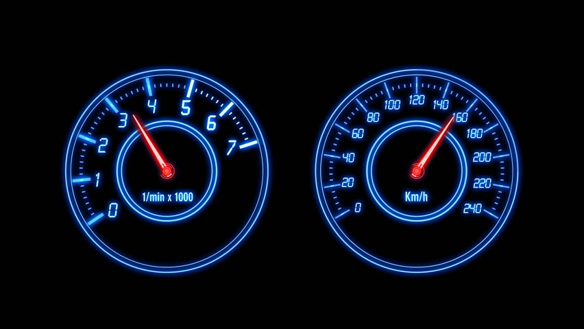 Modern Light Car Mileage Dashboard Milage Isolated On A Black - Car signs on dashboardcar dashboard signs speedometer tachometer fuel and temperature
