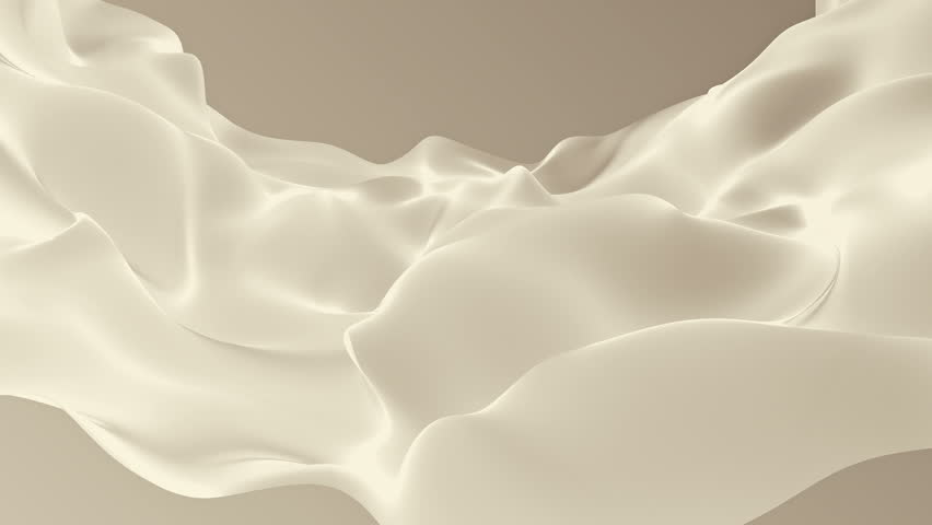 Abstract background waving with silk surface to the wind. Clear backdrop of ripple fabric. Beautiful abstraction of glowing cloth. Animation of seamless loop. | Shutterstock HD Video #32010409