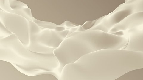 Abstract background waving with silk surface to the wind. Clear backdrop of ripple fabric. Beautiful abstraction of glowing cloth. Animation of seamless loop.