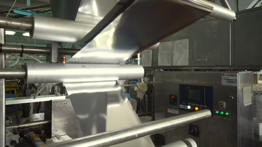 Volgograd, Russian Federation – May 25, 2017: The conveyor automatic lines for the production of ice cream   Shutterstock HD Video #32031031
