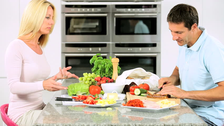 Image result for couple preparing lunch