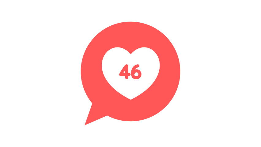 Like or Love pop up animation with counter number 1-100 , social media, hit, comment | Shutterstock HD Video #32074639