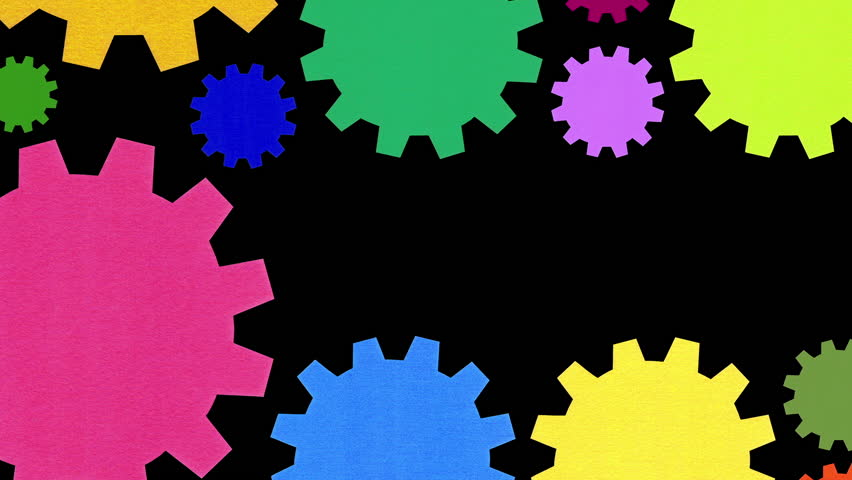 Multicolored moving gears shaping an euro sign | Shutterstock HD Video #32111329