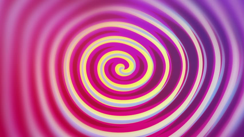 Spirelli - Funny Rotating Spiral Video Background Loop /// A cartoon-like rotating spiral painted with fresh, funny colors. Great for musical events or parties.