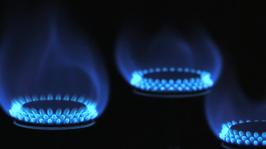 stock video of gas flame